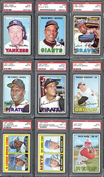 1967 Topps Baseball Complete Set #4 Current Finest on PSA Set Registry With 9.49 GPA