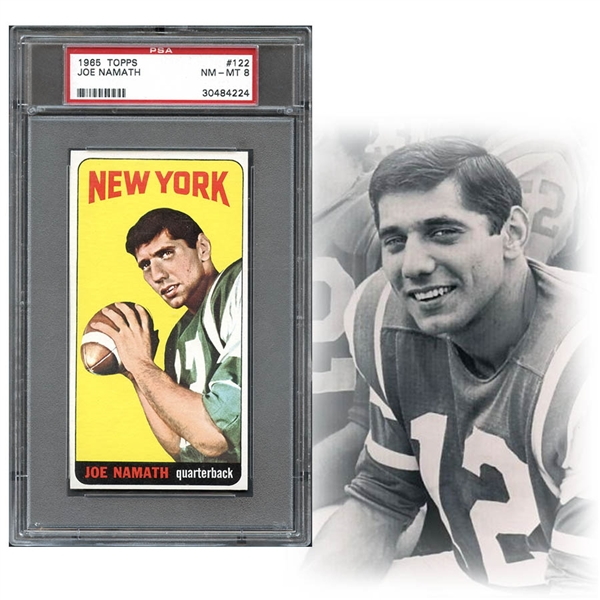 1965 Topps #122 Joe Namath PSA 8 NM/MT