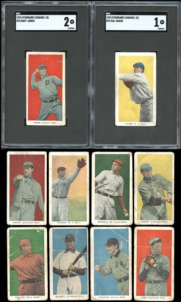 1910 E93 Standard Caramel Group of (29) Cards Including Partial Set