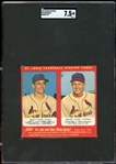 1953 Hunter Wieners Panel Miller/Musial Hand Cut SGC 7.5 NM+