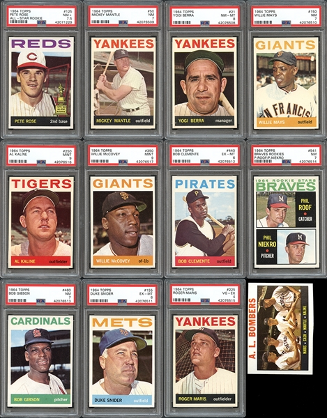 1964 Topps Baseball Complete Set with PSA Graded Stars