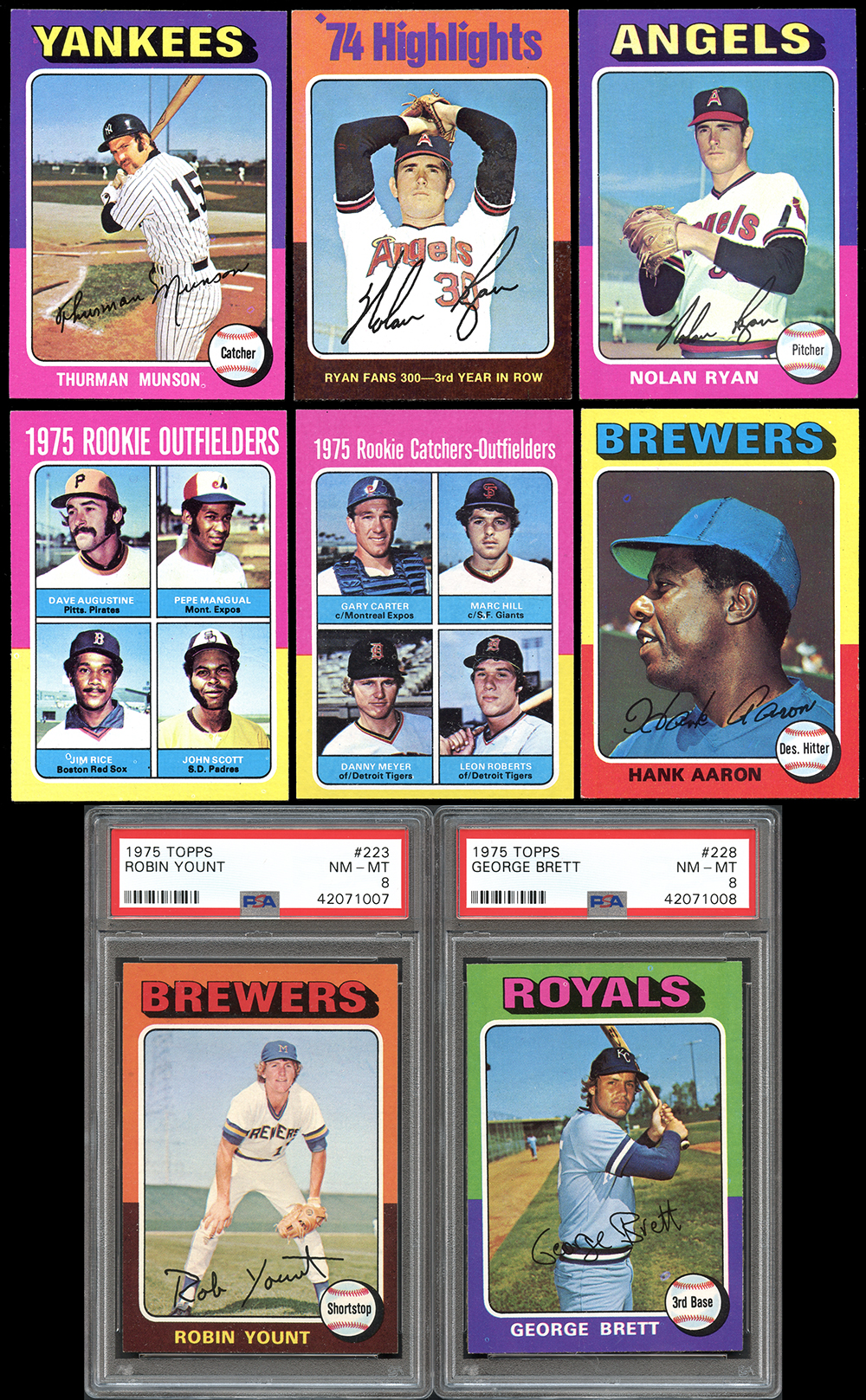 Lot Detail 1975 Topps Baseball Complete Set With Psa