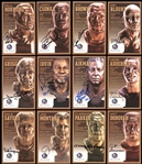 Pro Football Hall of Fame Autographed Bronze Bust Collector Cards Set with Additional Autographs