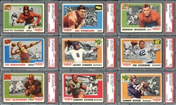 1955 Topps All-American Group of (42) High Grade Cards All PSA Graded