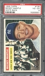 1956 Topps #135 Mickey Mantle White Back PSA 4 VG/EX
