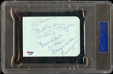 Doak Walker Signed Album Page with Others PSA/DNA