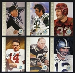 1998 Ron Mix NFL Hall of Fame Signature Series Platinum Edition Complete Set In Leather Binder