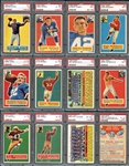 1956 Topps Football Complete Set with PSA Graded