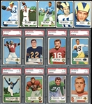 1954 Bowman Football Complete Set with PSA Graded