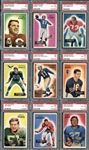 1955 Bowman Football Complete Set with PSA Graded