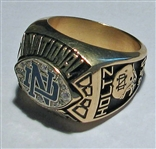 1988 Lou Holtz Notre Dame National Champions Salesman Sample Ring