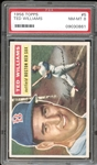 1956 Topps #5 Ted Williams White Back PSA 8 NM/MT