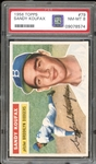 1956 Topps #79 Sandy Koufax White Back PSA 8 NM/MT