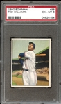 1950 Bowman #98 Ted Williams PSA 6 EX/MT