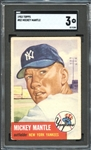 1953 Topps #82 Mickey Mantle SGC 3 VG