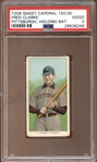 1909-11 T206 Sweet Caporal 150/30 Fred Clarke Pittsburgh Holding Bat PSA 2 GOOD