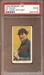 1909-11 T206 Piedmont 350/25 Vic Willis St. Louis With Bat PSA 2 GOOD