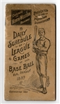 Outstanding 1889 Daily Schedule of League Games by Chicago and North Western Railway That Has Been Scored for Each Game
