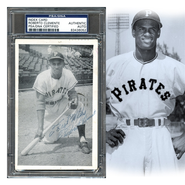Lot Detail Amazing Roberto Clemente Signed Real Photo