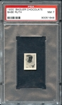 1930 Baguer Chocolate Babe Ruth PSA 7 NM