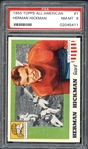 1955 Topps All-American #1 Herman Hickman PSA 8 NM/MT