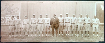 "1916 Chicago American Giants Panoramic PSA/DNA Type I Photo Featuring Rube Foster, ""Pop"" Lloyd and Pete Hill"