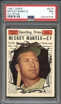 1961 Topps #578 Mickey Mantle All Star PSA 7 NM