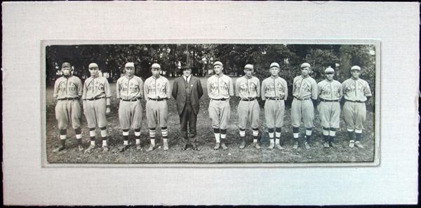 Lot Detail 1918 Fort Porter Baseball Team Panoramic