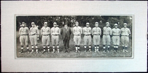 1918 Fort Porter Baseball Team Panoramic Photograph Featuring Shoeless Joe Jackson and Lefty Williams