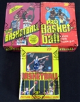 1978/79 Topps Basketball, 1979/80 Topps Basketball and 1981/82 Topps Basketball Unopened Wax Box Lot of (3) BBCE