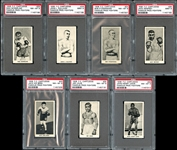 1938 F.C. Cartledge Famous Prize Fighters complete Set with PSA Graded
