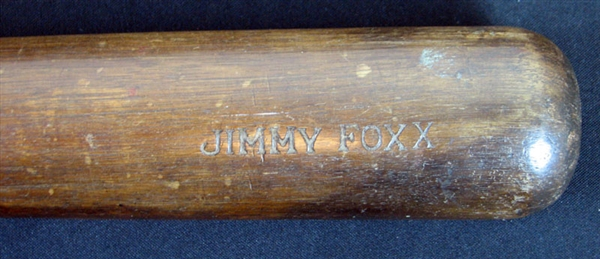 1926-27 Jimmie Foxx Spalding Rookie-Era Game-Used Bat PSA/DNA GU 9