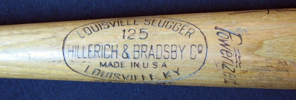 1960 Willie Mays Game-Used and Signed H&B Bat Used to Hit Career HR #272 Home Run Notation Added To Barrel PSA/DNA GU 9