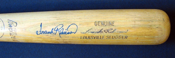 1950-1960 Frank Robinson Rookie Era Game-Used and Signed Louisville Slugger Bat PSA/DNA GU 8.5