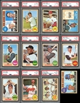 1968 Topps Baseball Complete Set with PSA Graded Stars