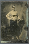 1860-70 Baseball Player Tintype Photo