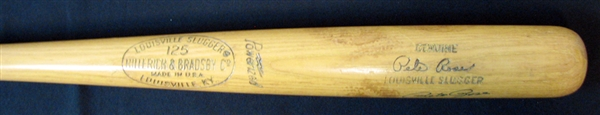 1969-70 Pete Rose Game-Used and Signed Louisville Slugger Bat PSA/DNA GU 8
