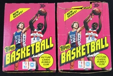 1981-82 Topps Basketball Unopened Wax Box Group of (2)