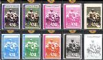 1978 Topps NFC Championship Proof Collection of 10 Cards From Topps Vault
