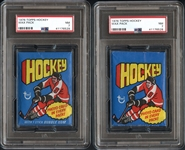 1976 Topps Hockey Wax Pack Group of (2) PSA Graded