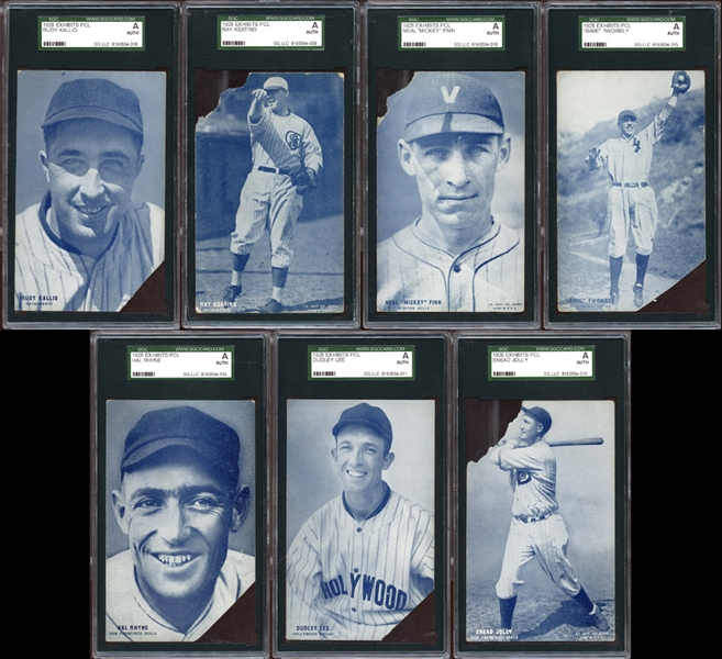 1928 Exhibits PCL Group of (13) All SGC Authentic