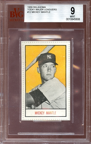 1959 Oklahoma Today #12 Mickey Mantle BVG 9 MINT