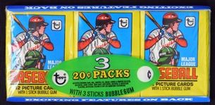1979 Topps Baseball Unopened Wax Pack Tray