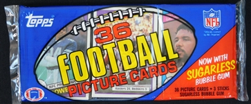 1984 Topps Football Unopened Rack Pack Marino on Back
