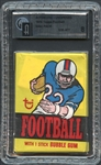 1976 Topps Football Wax Pack GAI 8 NM/MT
