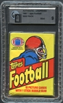 1981 Topps Football Wax Pack GAI 9 MINT