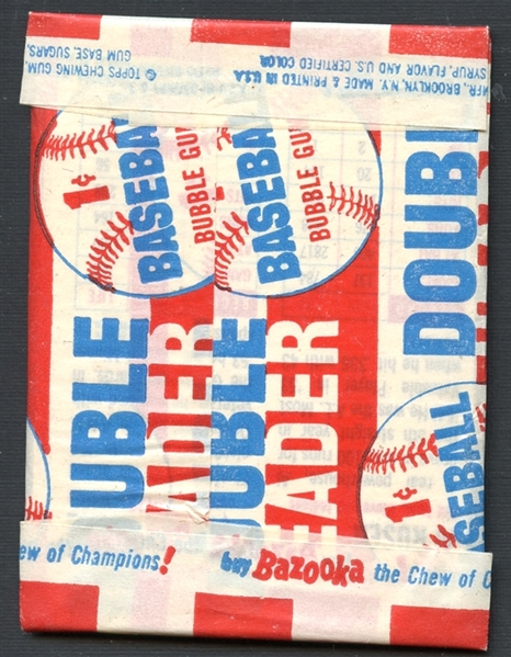 1955 Topps Doubleheader Unopened Wax Pack