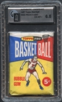 1957 Topps Basketball Wax Pack 5-Cent GAI 6.5 EX/MT+