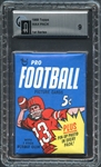 1968 Topps Football Wax Pack 1st Series GAI 9 MINT