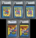 1979-80 Topps and O-Pee-Chee Hockey Wax Pack Group of (5)